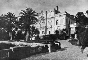 CANNES: CHATEAU, 1898. Chateau Thorenc in Cannes, France, owned by Lord Stuart Rendel