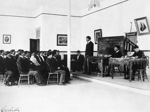 CARLISLE SCHOOL, 1900. Students at the Carlisle, Pennsylvania, Indian Industrial School