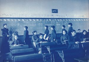 CARLISLE SCHOOL, 1901. Native Americans children in mathematics class at the Carlisle