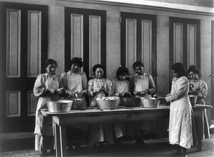 CARLISLE SCHOOL, c1901. Cooking class at the Carlisle Indian School in Carlisle