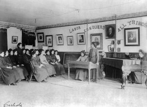 CARLISLE SCHOOL, c1901. Debating class at the Carlisle Indian School in Carlisle