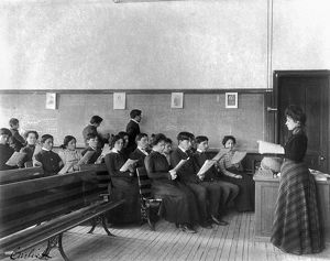 CARLISLE SCHOOL, c1901. Music class at the Carlisle Indian School in Carlisle
