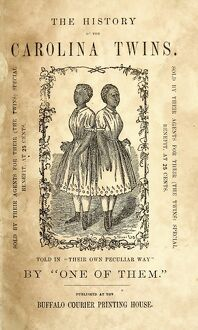 THE CAROLINA TWINS, c1869. Title page of 'The History of the Carolina Twins,' the