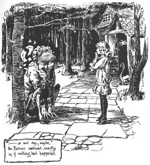 CARROLL: ALICE, 1907. Illustration by Thomas Maybank for Lewis Carroll's