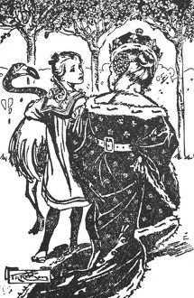 CARROLL: ALICE, 1922. Illustration by Thomas Health Robinson for Lewis Carroll's