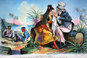 CARTOON: CUBA, 1895. Some Time in the Future: prophetic American cartoon by Louis Dalrymple