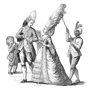 fashion/cartoon french fashion late 18th century french