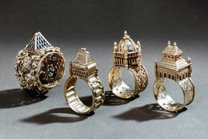 CEREMONIAL MARRIAGE RINGS. Italian, early 17th and 18th century.