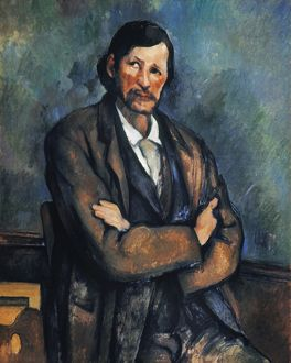 CEZANNE: MAN, c1899. Man with Crossed Arms. Canvas, c1899, by Paul Cezanne.