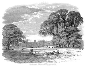 CHARLECOTE PARK, 1847. View of Charlecote Park near Stratford-on-Avon, England