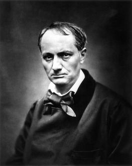 CHARLES BAUDELAIRE (1821-1867). French poet. Photographed by Etienne Carjat, 1863.
