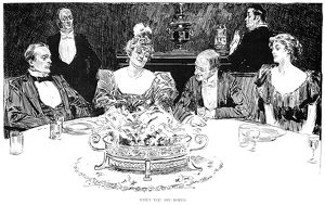 Charles Dana Gibson (1867-1944). American illustrator. 'When you are bored.' Pen
