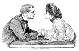 Charles Dana Gibson (1867-1944). American illustrator. 'The Greatest Game In The World
