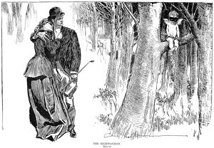 Charles Dana Gibson (1867-1944). American illustrator. 'The Highwayman. Held Up