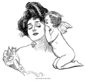 Charles Dana Gibson (1867-1944). American illustrator. 'The Story Of His Life