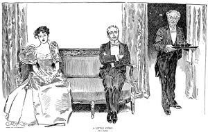 Charles Dana Gibson (1867-1944). American illustrator. 'A Little Story. By a Sleeve