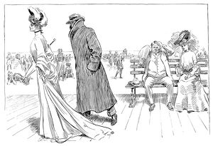Charles Dana Gibson (1867-1944). American illustrator. 'After A Vain Search For Rest And Quiet