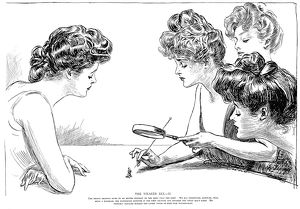 Charles Dana Gibson (1867-1944). American illustrator. 'The Weaker Sex- II.' Pen