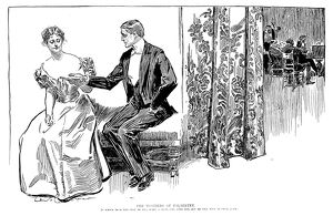 Charles Dana Gibson (1867-1944). American illustrator. 'The Wonders Of Palmistry
