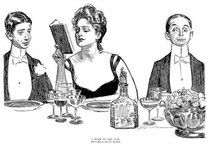 Charles Dana Gibson (1867-1944). American illustrator. Pen and ink drawing, 1900.