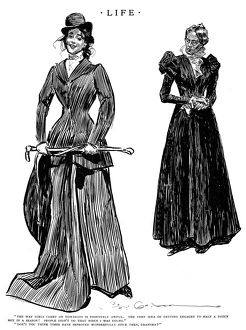 Charles Dana Gibson (1867-1944). American illustrator. Pen and ink drawing, 1897.