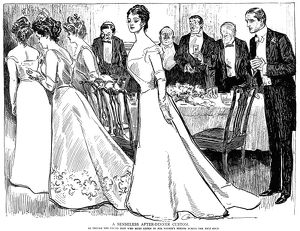 Charles Dana Gibson (1867-1944). American illustrator. 'A Senseless After-Dinner Custom