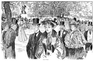 Charles Dana Gibson (1867-1944). American illustrator. Pen and ink drawing, 1906.