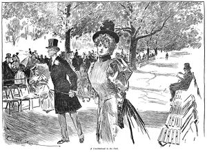 Charles Dana Gibson (1867-1944). American illustrator. 'A Constitutional in the Park