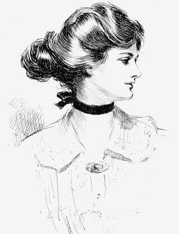 Charles Dana Gibson (1867-1944). American illustrator. Pen and ink drawing, 1905.