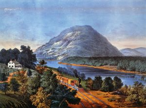 CHATTANOOGA RAILROAD Lookout Mountain, Tennessee, and the Chattanooga Railroad: lithograph