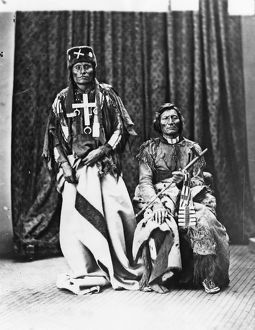 CHEYENNE CHIEFS, 1873. Northern Cheyenne chiefs Little Wolf (left) and Dull Knife