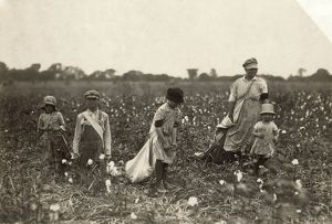 CHILD LABOR: COTTON, 1916. Family of cotton pickers in Comanche County, Oklahoma