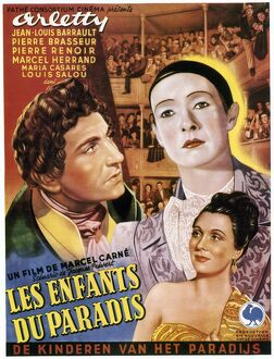 CHILDREN OF PARADISE, 1945. French poster for the film 'Les Enfants du Paradis&#39