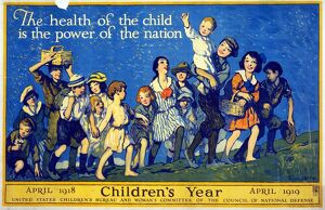 CHILDREN'S YEAR, 1918. 'The health of the child is the power of the nation