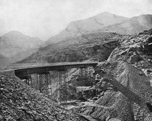 CHILE: RAILROAD, c1890. A view of the Valparaiso and Santiago Railroad in Chile