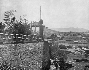 CHILE: SANTIAGO, c1890. A view of Santiago, Chile, from Santa Lucia Hill. Photograph