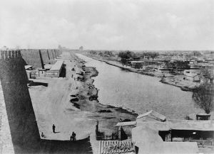 CHINA: GRAND CANAL, c1900. The end of the Grand Canal in Beijing, China. Photograph