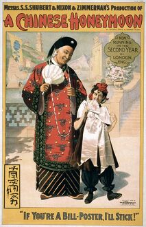 A CHINESE HONEYMOON. An American poster advertising the musical comedy 'A Chinese