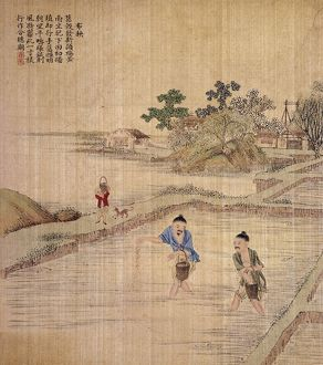 Chinese silk painting, c1650-1726.