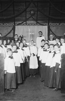 CHOIR, c1915. The choir at Emanuel Methodist Episcopal Church in Anacostia, Washington, D