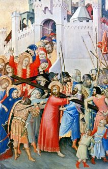 Christ Carrying the Cross. Tempera on wood, 1336-42, by Simone Martini.