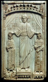 Christ, Holy Roman Emperor Otto II, and Empress Theophano. Ivory, 10th century.