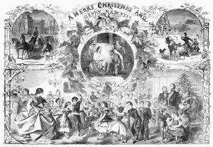 CHRISTMAS, 1859. Scenes of Christmas and New Years celebrations in New York City