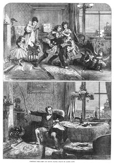 CHRISTMAS, 1867. 'Christmas Time - First and Second Floors