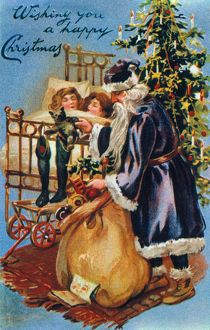CHRISTMAS CARD. /nAmerican, late 19th century.