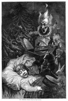CHRISTMAS DREAM, 1871. 'The Christmas Dream