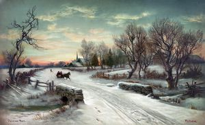 CHRISTMAS MORN, c1885. Lithograph after a painting by W.C. Bauer, c1885.