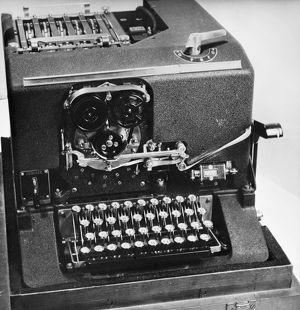 The cipher machine SIGABA, developed in the late 1930s and used by the American government