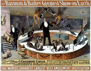 CIRCUS POSTER, 1890s. American.