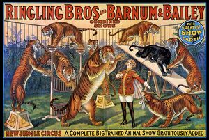 CIRCUS POSTER, 1920s. American poster, 1920s, for Ringling Bros and Barnum & Bailey